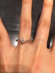 【ケイウノ ブライダル(K.UNO BRIDAL)の口コミ】 2017年3月末までしている婚約指輪と結婚指輪の3本で35万円のセット…