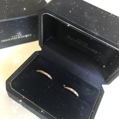 【銀座ダイヤモンドシライシの口コミ】 指輪を付けた時ののつけ心地が良く、細かいダイヤモンドがキラキラしてい…
