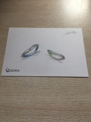 【SORA(ソラ)の口コミ】 形、カラー、石、ライン、刻印と自分の思い描いていたイメージを伝えて、そ…