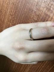 【ティファニー(Tiffany & Co.)の口コミ】 ショーケースでみるよりも、実際に指にはめてみるととてもしっくりきました…