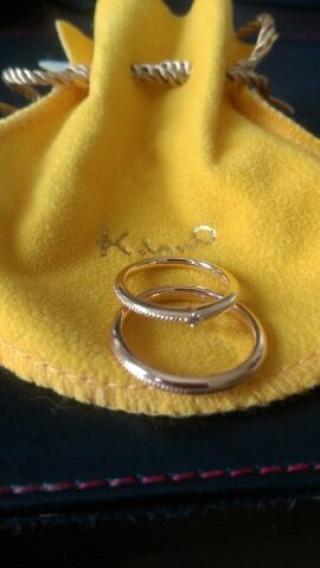 【ケイウノ ブライダル(K.UNO BRIDAL)の口コミ】 ゴールドで結婚指輪を探していました。 自宅でネット検索をしていたところ…