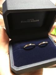 【銀座ダイヤモンドシライシの口コミ】 デザインがとても気に入りました!最初はシンプルなデザインをと考えていた…