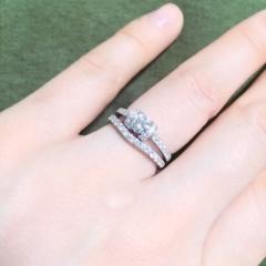 【ガラOKACHIMACHIの口コミ】 プロポーズの際、夫から仮の指輪をもらい後日きちんとしたものを2人で買い…