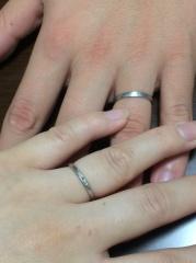 【アトリエミラネーゼの口コミ】 指輪をつけること自体があまり好きではなく、それでも結婚指輪はちゃんとつ…