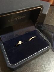 【銀座ダイヤモンドシライシの口コミ】 手にしっくりきて、指に入れるとき痛くなかった。 大げさじゃない柔らかい…