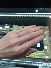 【JEWELRY  KAMATA(ジュエリーかまた)の口コミ】 二人だけの特別な指輪がほしいと考えており、フルオーダーで作ってくれると…