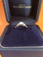 【銀座ダイヤモンドシライシの口コミ】 一生つけられる素敵な指輪だと思ったので。 思い描いていたイメージより豪…