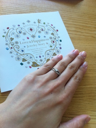 【JEWELRY  KAMATA(ジュエリーかまた)の口コミ】 はじめての宝石店(*^^*) アクセサリーの知識もなく、婚約指輪と結婚指輪の…