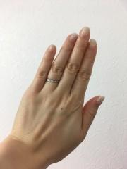 【銀座ダイヤモンドシライシの口コミ】 ウェーブタイプの指輪を探していて 、いくつか試着させていただいたのです…