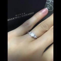 【銀座ダイヤモンドシライシの口コミ】 一目見て、デザインが気に入りました。購入を検討するにあたり有名ブランド…