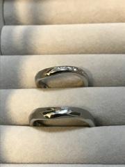 【JEWELRY  KAMATA(ジュエリーかまた)の口コミ】 フルオーダーなので自分たちの思い通りの指輪を作ることができるところ。…