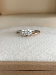 【AMOUR AMULET(アムール・アミュレット)の口コミ】 シンプルだけど、ゴールドも入っておりすごく綺麗だったので。指輪が真っ…