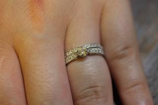 【HOSHI no SUNA 星の砂(ほしのすな)の口コミ】 星の砂の指輪を選んだのはデザインの良さもあったのですが、何よりダイヤ…