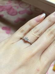 【ケイウノ ブライダル(K.UNO BRIDAL)の口コミ】 私が指輪に意味を込めたいとのこだわりがあったため、フルオーダーが可能…