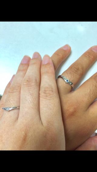 【ケイウノ ブライダル(K.UNO BRIDAL)の口コミ】 始めから自分達だけのオリジナルの指輪を作りたい、オーダーメイドにした…