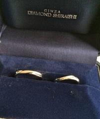 【銀座ダイヤモンドシライシの口コミ】 ダイヤモンド付きがよかったのですが、指輪が回ってしまうときに隣の指に当…