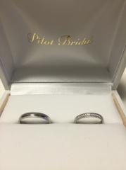 【PILOT BRIDAL(パイロットブライダル)の口コミ】 ミル打ちの指輪を探していて、この指輪のミル打ちを見たとき細かい部分まで…