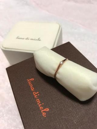【luna-di-miele(ルナディミエーレ)の口コミ】 当時はお金がなかったので、婚約指輪といえども高価な指輪は買ってもらえ…