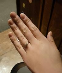 【JEWELRY  KAMATA(ジュエリーかまた)の口コミ】 色々なデザインを検討し、最高のお気に入りのリングができあがりました! …