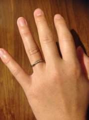 【ケイウノ ブライダル(K.UNO BRIDAL)の口コミ】 結婚指輪は常に身に着けたいと思ってたので、シンプルなデザインのものを選…