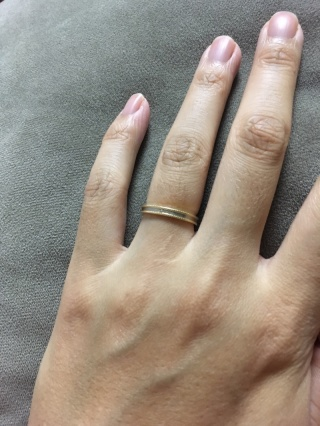【ENUOVE(イノーヴェ)の口コミ】 同じようなデザインの指輪は他店でもあったのですが、こちらの指輪は肌なじ…