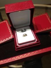 【カルティエ(Cartier)の口コミ】 私も夫も仕事の関係上結婚指輪はつけられないので、休日につけれるオシャレ…