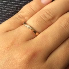 【巴(TOMOE)の口コミ】 メレダイヤのリングを探していて、こういった捻ったデザインのものはたく…