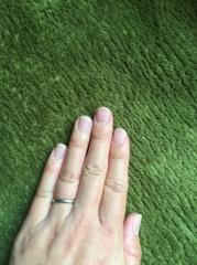 【エクセルコダイヤモンド(EXELCO DIAMOND)の口コミ】 付けっぱなしにしたかったので、丈夫で家事の邪魔にならないシンプルな結婚…