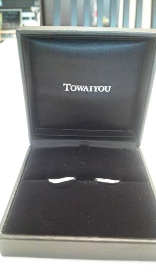 【TOWAIYOU(トワイユ)の口コミ】 婚約指輪と一緒に着けても負けず、普段も着けていられるデザインです。 あ…