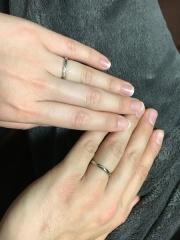【銀座ダイヤモンドシライシの口コミ】 婚約指輪のすずらんと重ねづけを考えており一番ステキかな♡っと思いました…