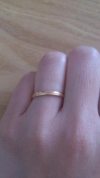 【ヴァンドーム青山(Vendome Aoyama)の口コミ】 二人の指輪を探すのに条件があり、夫はプラチナ希望で、私はゴールド希望…