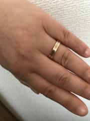 【カルティエ(Cartier)の口コミ】 最初からゴールドのリングを探していて、少し存在感のある物が良かったの…