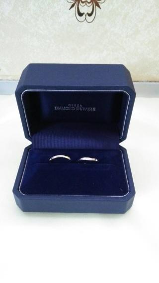 【銀座ダイヤモンドシライシの口コミ】 結婚指輪をシンプルなものにしようとしていたのですが、ダイヤの入っている…