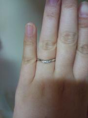 【アンジェリックフォセッテ(Angelique Fossette)の口コミ】 あまり指輪にお金をかけられなかったので、3本で18万円のセットリングを購…