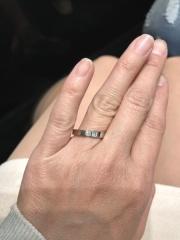 【ラザール ダイヤモンド(LAZARE DIAMOND)の口コミ】 一石ダイヤで勝負できる上、シンプルながら洗練されたデザインがとても気に…