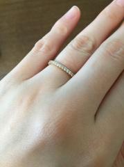 【カルティエ(Cartier)の口コミ】 結婚指輪は一生付けるものなので、飽きのこないシンプルなものを選んだの…
