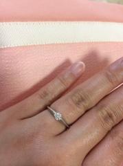 【ティファニー(Tiffany & Co.)の口コミ】 婚約指輪とは、ティファニー!ティファニーのティファニーセッティング!…