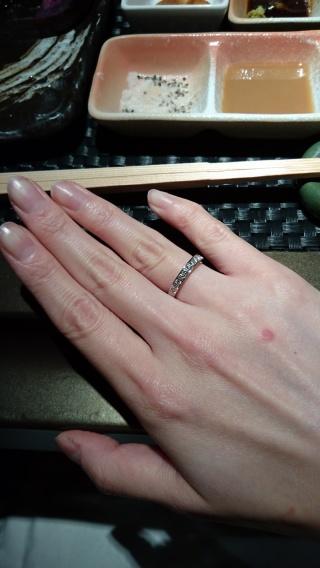 【LEHAIM(レハイム)の口コミ】 一粒ダイヤの指輪ではなく、普段も付けられるようにハーフエタニティリン…