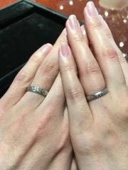 【JEWELRY  KAMATA(ジュエリーかまた)の口コミ】 元々アイヌ文様を指輪のデザインのモチーフにしたいと考えていましたが、し…