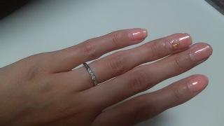 【MIKIMOTO(ミキモト)の口コミ】 婚約指輪がミキモトだったので婚約指輪と重ね付けができるように結婚指輪…