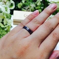 【SORA(ソラ)の口コミ】 綺麗な発色でほかにはないオリジナルな指輪を作ってもらえたこと。デザイ…