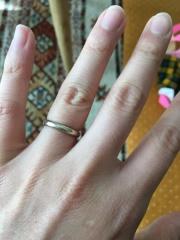 【ENUOVE(イノーヴェ)の口コミ】 店員の方にオススメされたマットテイストなゴールドのリングに一目惚れしま…