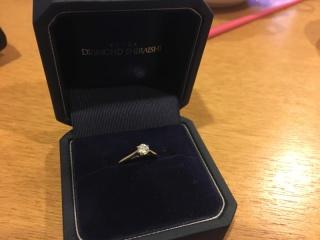 【銀座ダイヤモンドシライシの口コミ】 店員さんの対応がすごく丁寧で、楽しく、じっくり選ばせていただきました。…