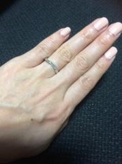 【グッチ(GUCCI)の口コミ】 結婚指輪なのでシンプルなデザインを希望していました。主人はシンプルなデ…