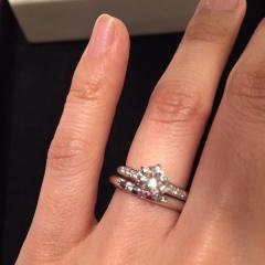 【JEWELRY  KAMATA(ジュエリーかまた)の口コミ】 妻の祖母より受け継いだダイヤモンドを使用し作った婚約指輪に合わせてフル…