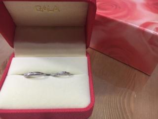 【ガラOKACHIMACHIの口コミ】 自分達の思い出をデザインしたレーザーアートを指輪に施せるところと、ツイ…