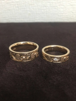 【Makana(マカナ)の口コミ】 ハワイが大好きで、結婚指輪は絶対ハワイアンジュエリーと決めていました。…