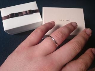 【アイプリモ(I-PRIMO)の口コミ】 普段使いにも使えるようなシンプルで派手すぎない結婚指輪を探していました…