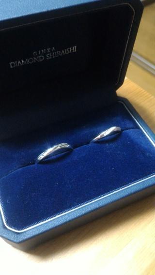 【銀座ダイヤモンドシライシの口コミ】 旦那さんも私も,ウェーブのデザインやダイヤの入り方の好みが一緒で,ウェ…