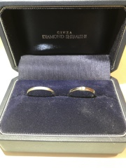 【銀座ダイヤモンドシライシの口コミ】 指輪の商品名のエバーアフター、「いつまでも幸せに暮らしました」というフ…
